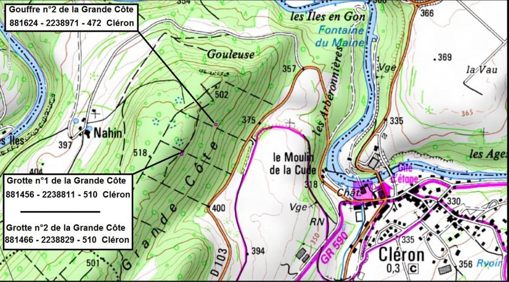 Cavités de la Grande Côte, Cléron