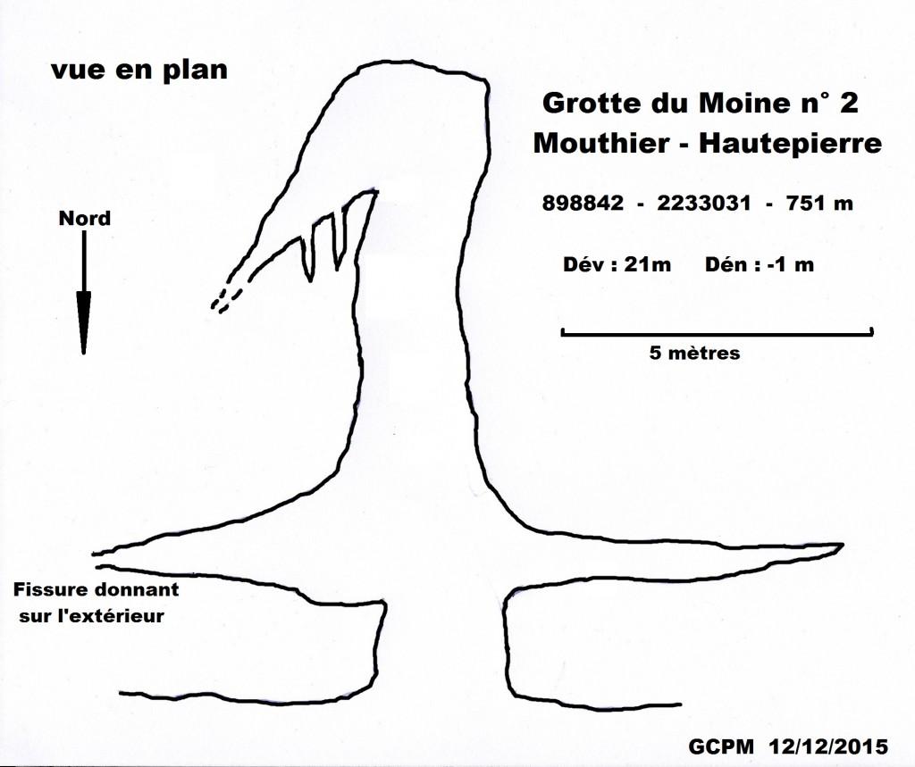 Topo grotte du Moine n°2