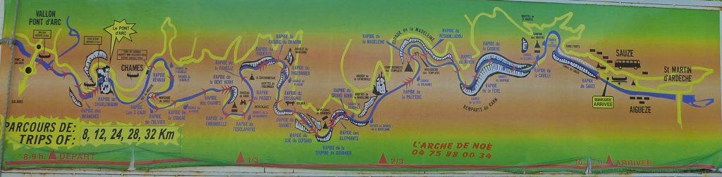 Parcours canoë sur l'Ardèche